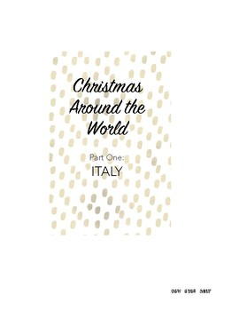 Christmas Around the World! Part One: Italy La Befana Story and Activities!