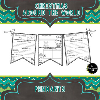 Christmas Around the World - Pennant Flags