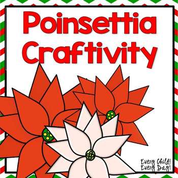 Christmas Around the World - Poinsettia Craftivity