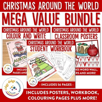 Christmas Around the World Posters and Student Workbook MEGA Bundle