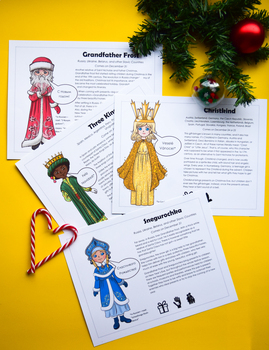 Christmas Around the World: Posters & Colouring Pages