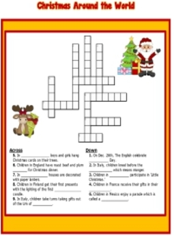 Christmas Around The World Worksheets.Christmas Around The World Printable Packet