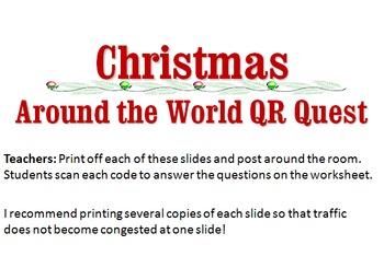 Christmas Around the World QR Code Reading & Activities