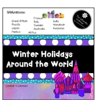 Christmas Around the World Reading Comprehension 2nd and 3rd Grades