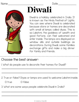 Holidays Around the World Reading Comprehension Passages