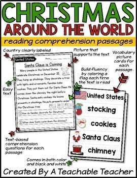 Christmas Around the World Reading Passages | Christmas Activities