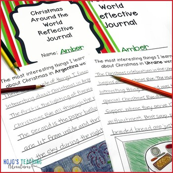 Christmas Around the World Journals for your December Holiday Activities!