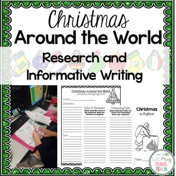 Christmas Around the World Research and Informative Writing