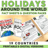Holidays Around the World Research Fact Sheets & Questions