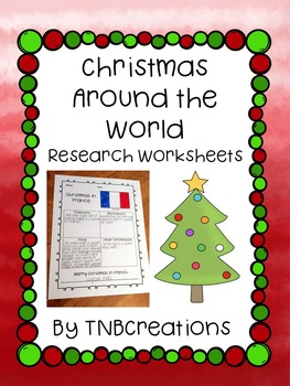 Christmas Around The World Worksheets.Christmas Around The World Research Worksheets