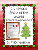 Christmas Around the World Research Worksheets