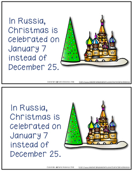 Christmas Around the World: Russia Emergent Easy Reader and Flip Book