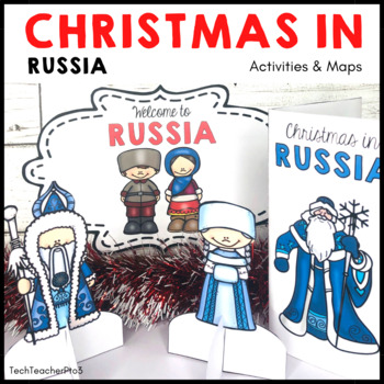 Christmas Around the World RUSSIA Maps Flags Information Cards and Recipe