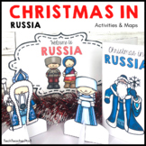 Christmas Around the World RUSSIA map traditions food flags