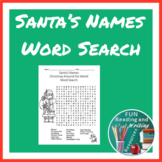 Christmas Around the World Santa's Names Word Search Puzzle Distance Learning