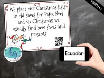 Christmas Around the World Scavenger Hunt {With and Without QR Codes}