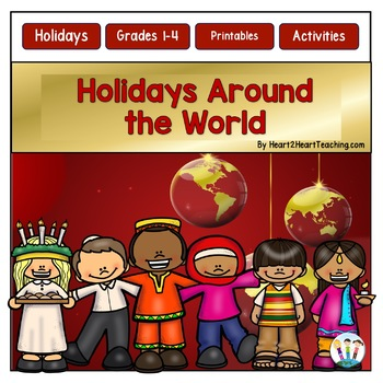 Christmas Activities: Holidays Around the World Bundle (7 Different Countries)