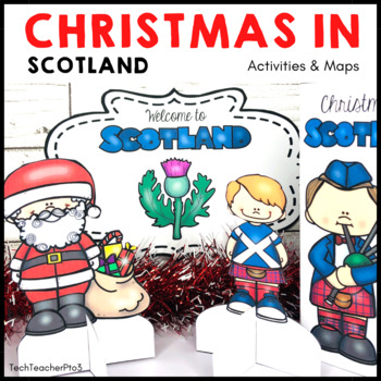 Christmas Around the World SCOTLAND Maps Flags Information Cards and Recipe