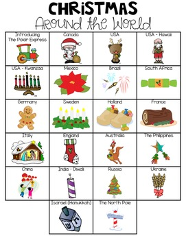 christmas around the world scrapbook craft pack by first grade garden rh teacherspayteachers com christmas around the world clipart black and white christmas around the world clipart