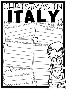 Christmas Around the World Scrapbook (Research Project)