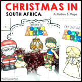 Christmas Around the World SOUTH AFRICA Maps Flags Info Cards and Recipe