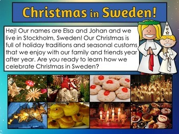 Christmas Around the World PowerPoint: Sweden