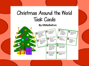 Christmas Around the World Task Cards by KMediaFun