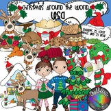 Christmas Around the World- USA Clip Art