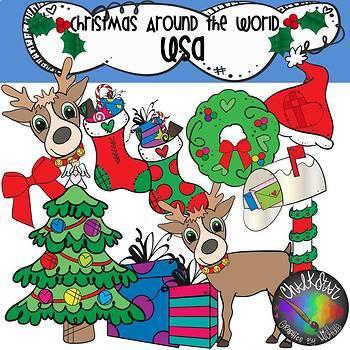 Christmas Around the World- USA Clip Art