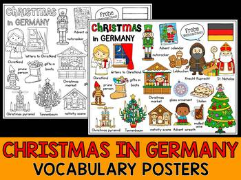 Christmas Around the World - Vocabulary & Mini Word Wall Coloring - Germany