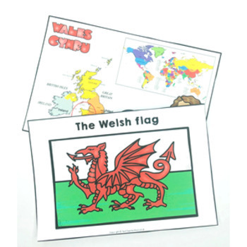 Christmas Around the World WALES Maps Flags Information Cards and Recipe