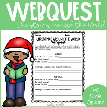 Christmas Around the World Webquest FREEBIE