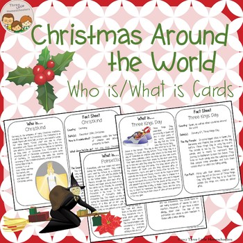 Christmas Around the World Who is What is Cards for Older Kids