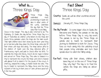 Christmas Around the World Fact Cards for Older Kids