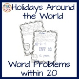Holidays Around the World Word Problems within 20