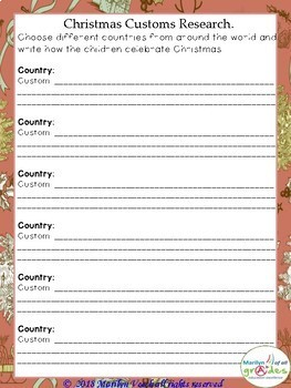 Christmas Around the World - Worksheets - Activities - Research