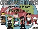 Holidays Around the World Write the Room - CVC Words Edition