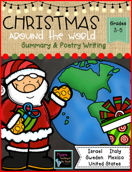 Christmas Around the World Writing & Poetry Grades 3-5