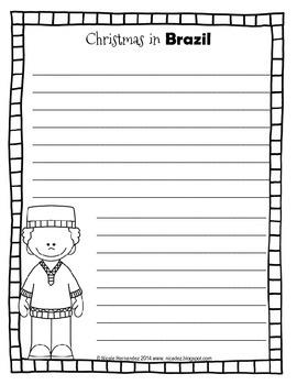Christmas Around the World Writing Sheets