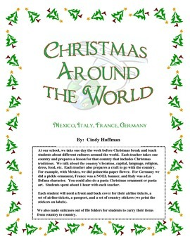 Christmas Around the World packet 1