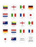 Christmas Around the World passport stamps