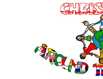 Christmas Around the World sign