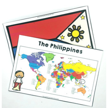 Christmas Around the World THE PHILIPPINES Maps Flags Info Cards and Recipe