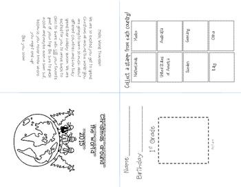 Christmas Around the world Passport (black and white)