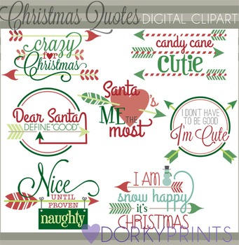 Christmas Arrow Quotes Clip Art