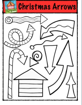Christmas Arrows {P4 Clips Trioriginals Digital Clip Art}