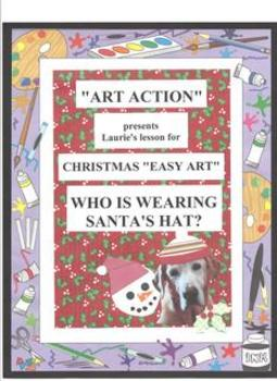"""Christmas """"Art Action"""" Who is Wearing Santa's Hat?"""