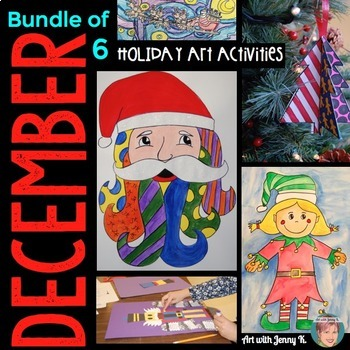 Christmas Activities Bundle: 6 Art-Infused Holiday / Christmas Activities