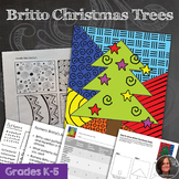 Christmas Art Activity - Britto Christmas Trees - Pattern