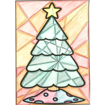 Christmas Art Activity Warm and Cool Colors